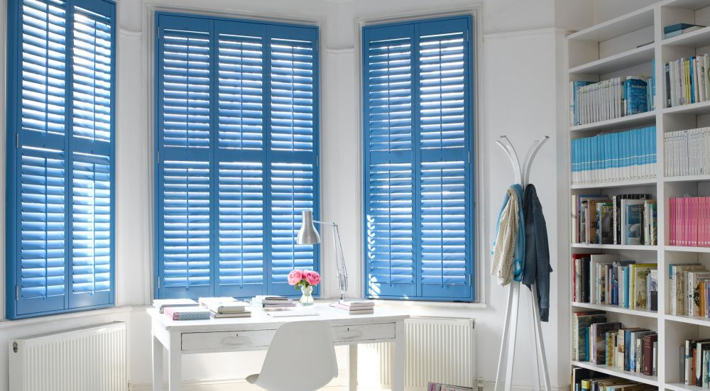 Blue Shutter Blinds Glasgow