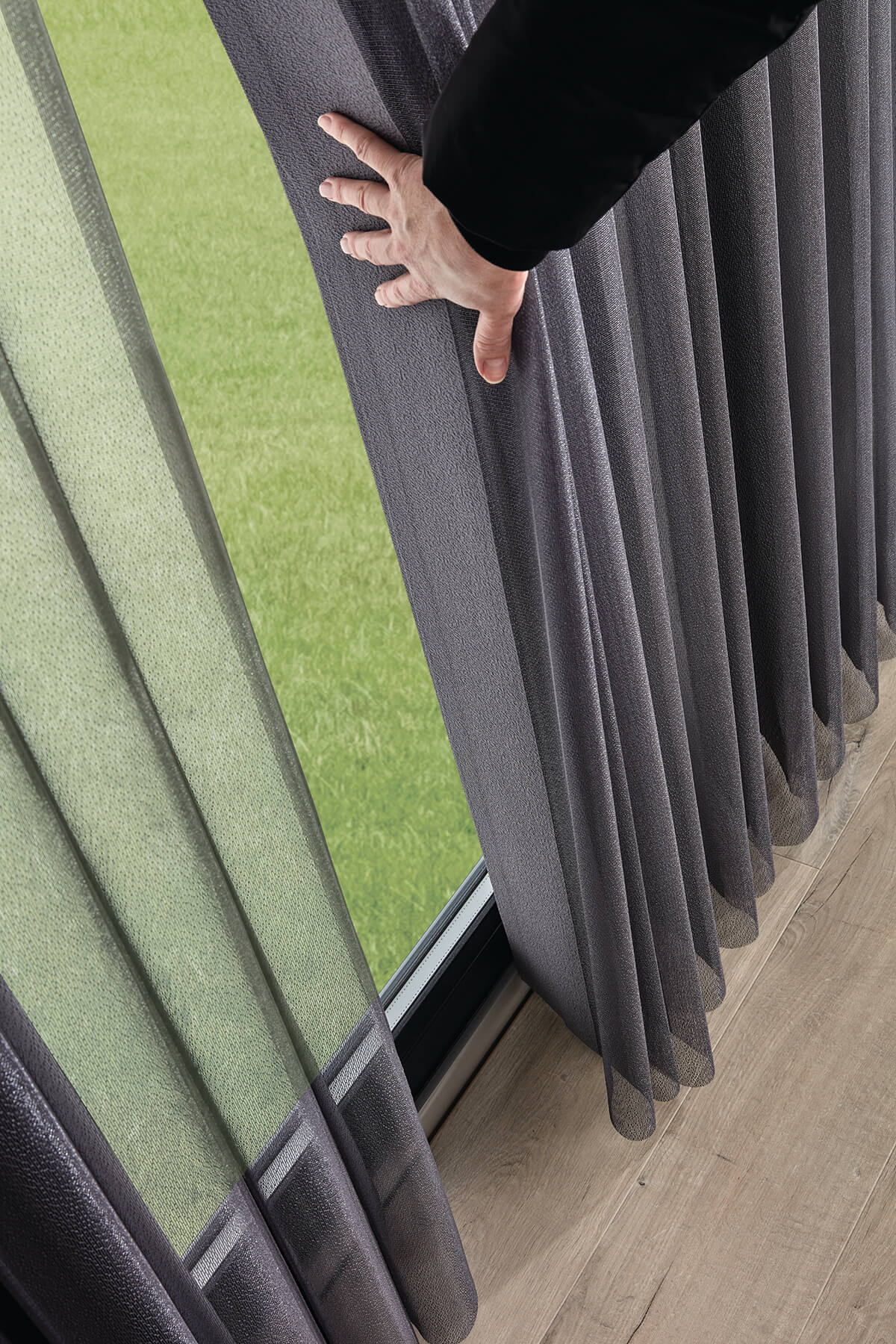 Allusion Blinds - Horizon Pewter Walk Through