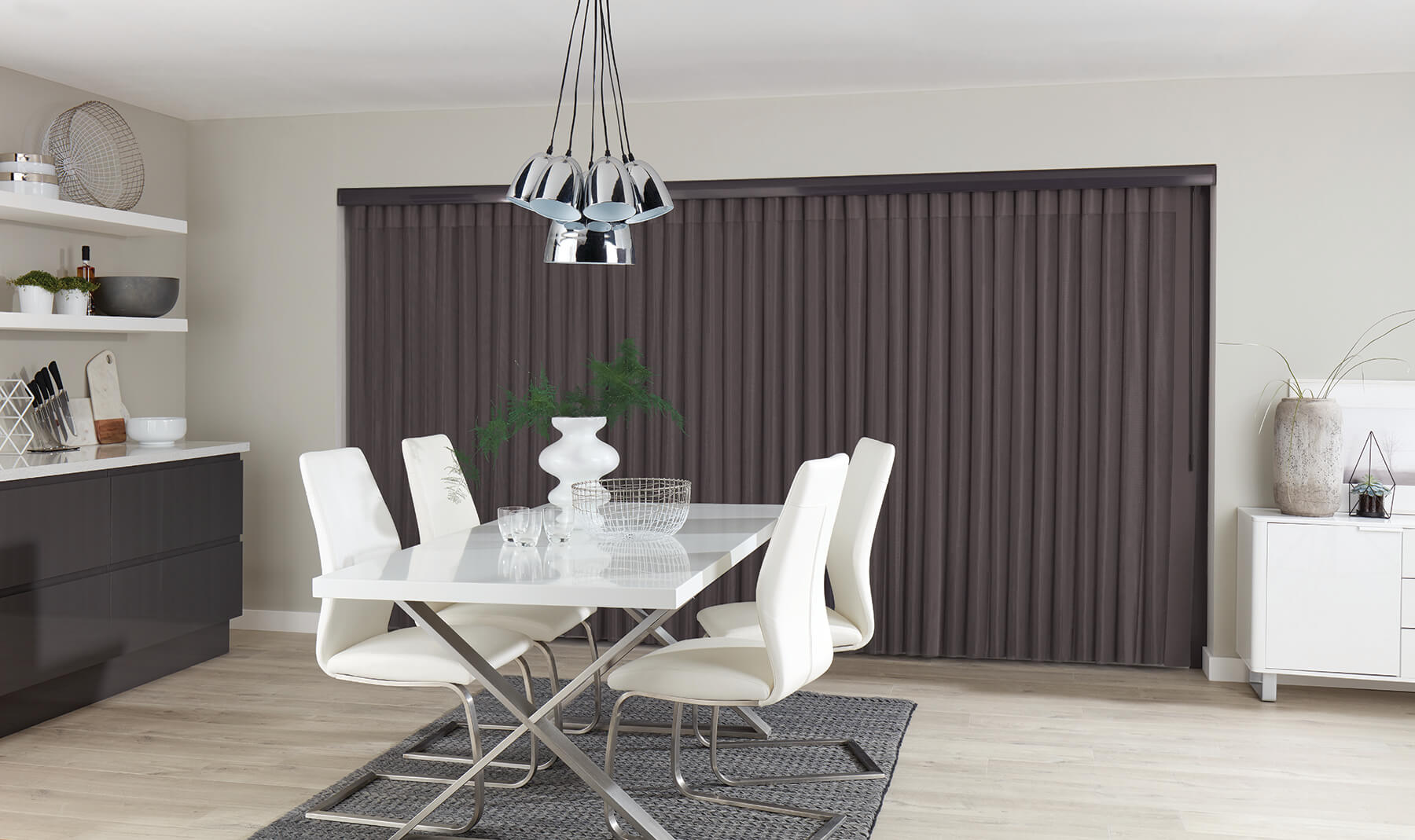 Allusion Blinds - Horizon Pewter Allusion Blind Total Privacy
