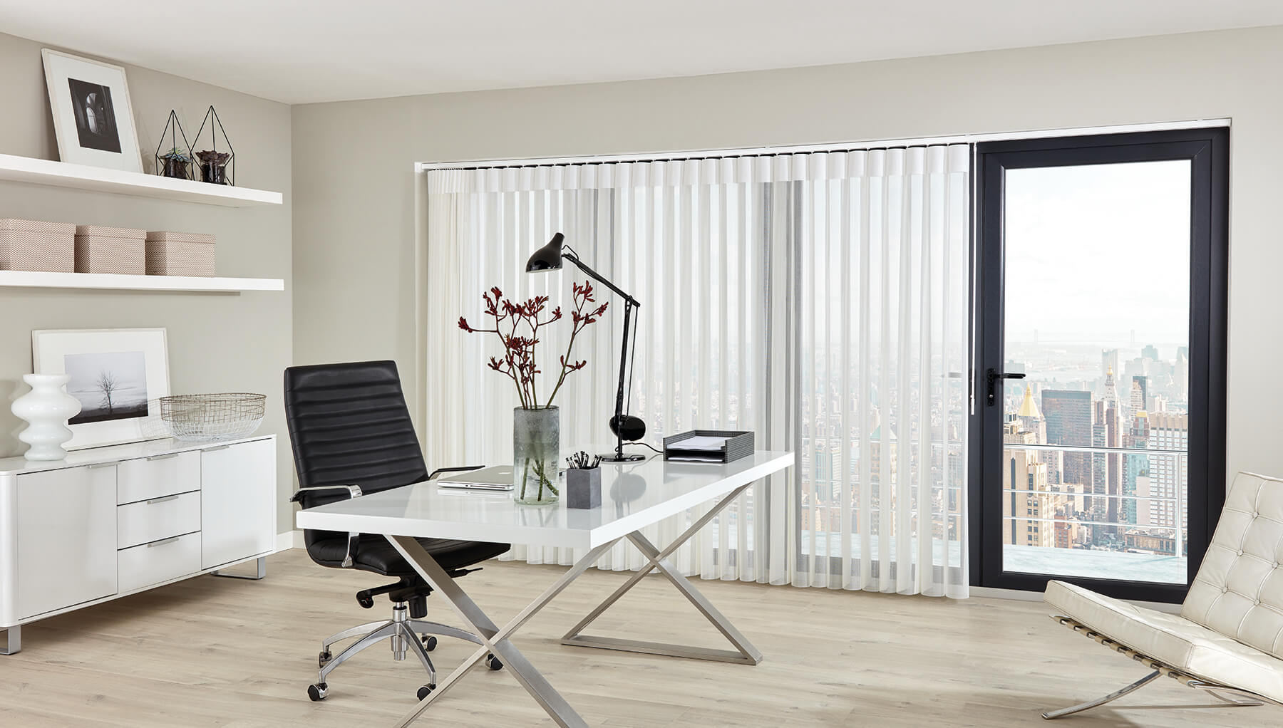 Allusion Blinds - Vista snow Allusion Blind Full View Glasgow