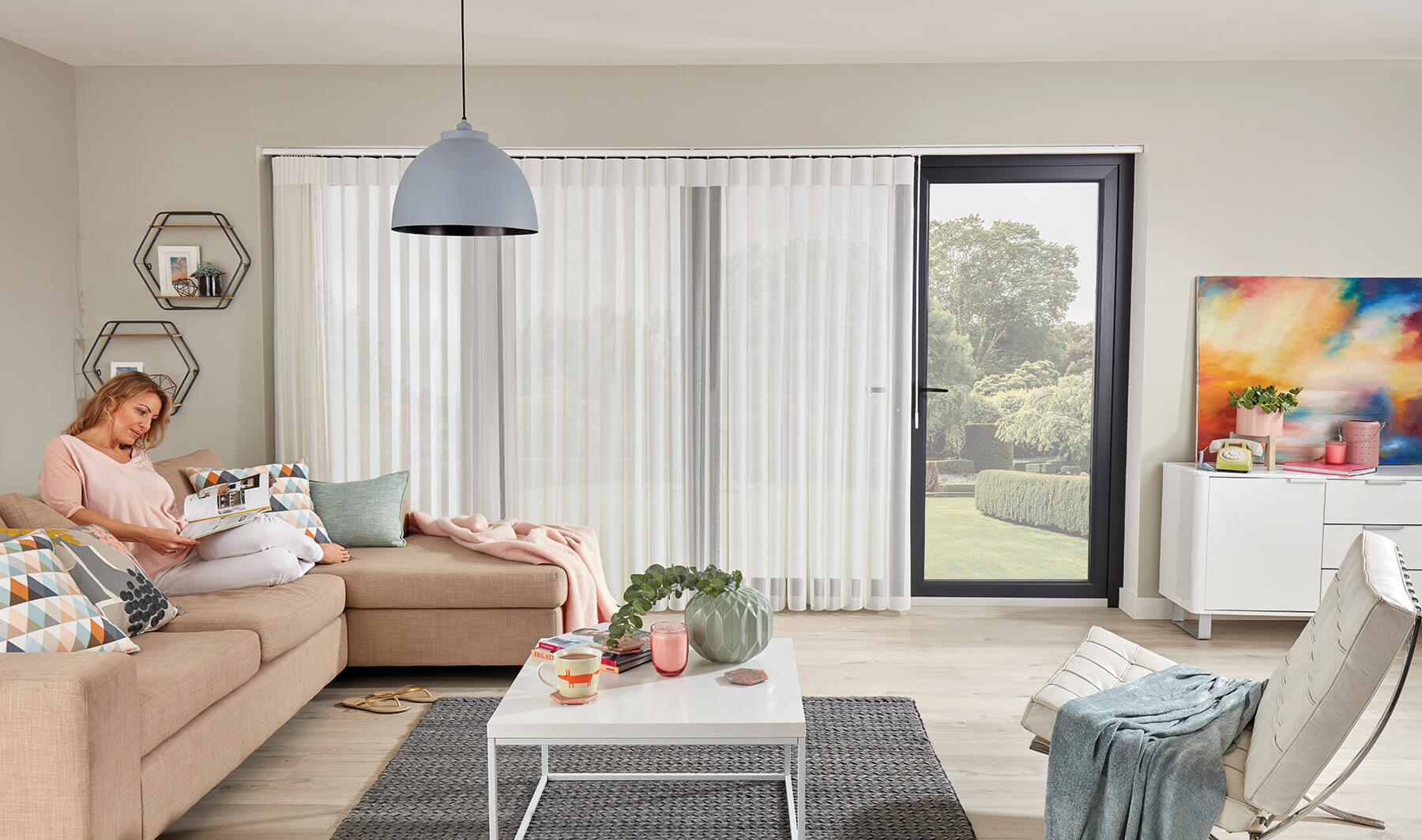 Allusion Blinds - Vista Snow Full View Bearsden