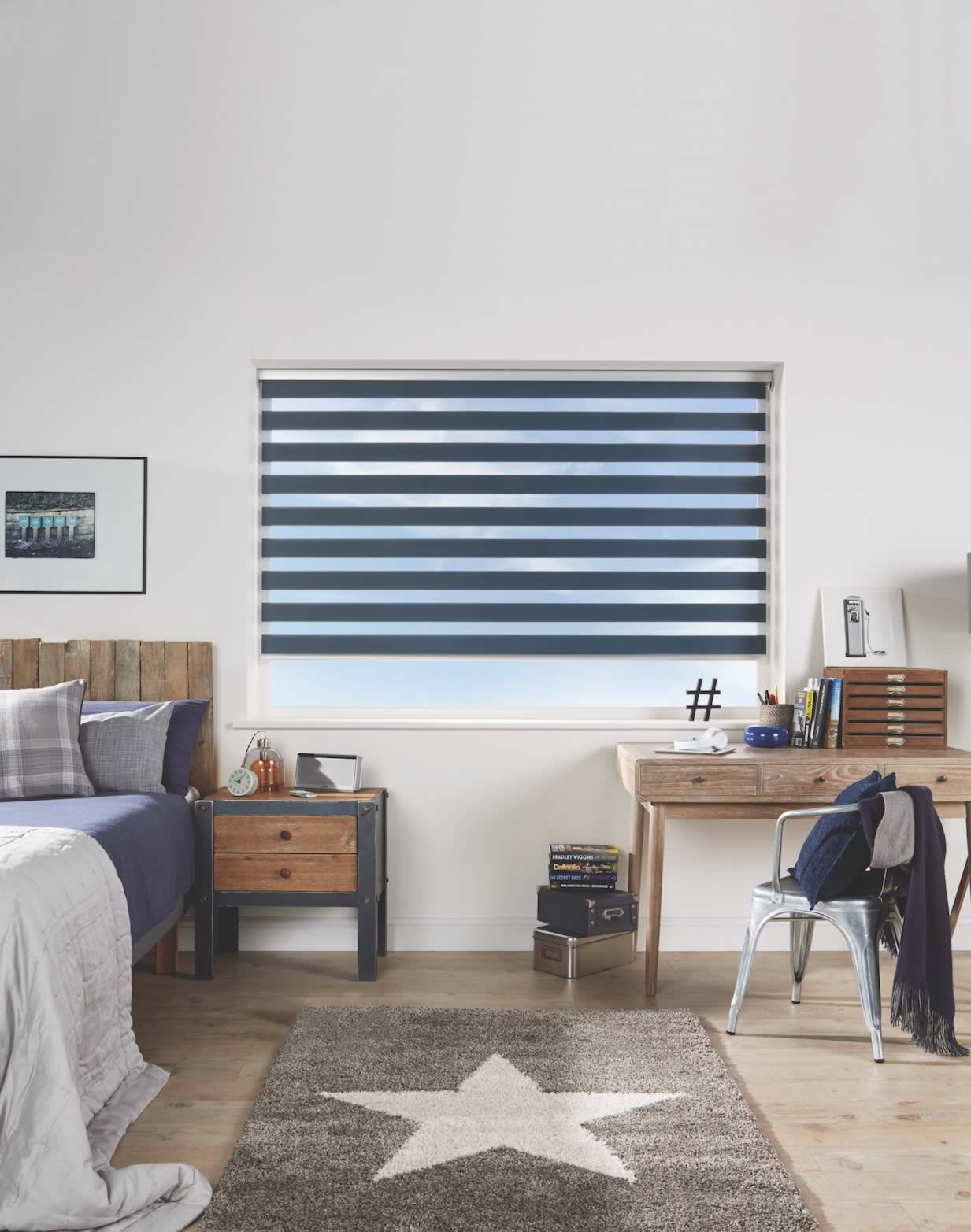 Day and Night Blinds - Capri Navy