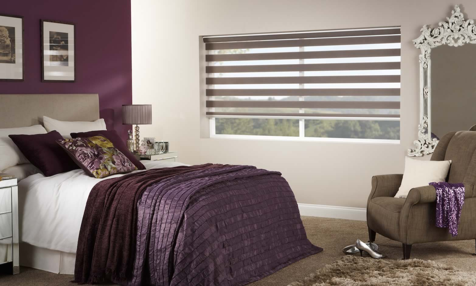 Day and Night Blinds - Capri Sand Open