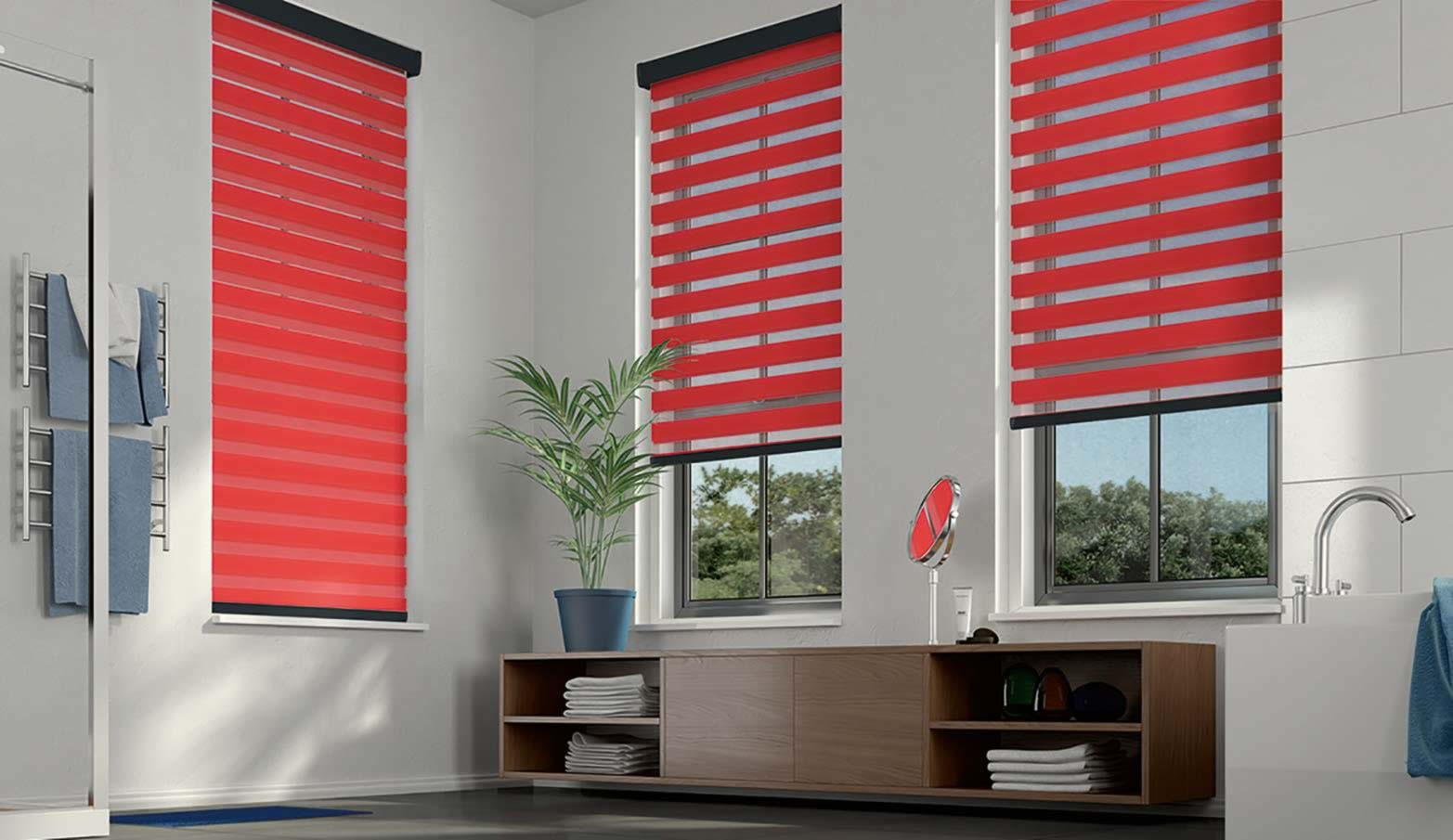 Day and Night Blinds - Essence Scarlet