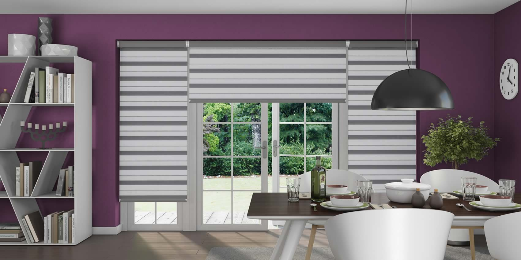Day and Night Blinds - Lustre Chrome