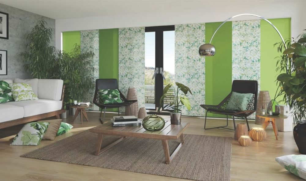 Panel Blinds - Tropicana Apple Mojito Carnival Kiwi/Chive Panel