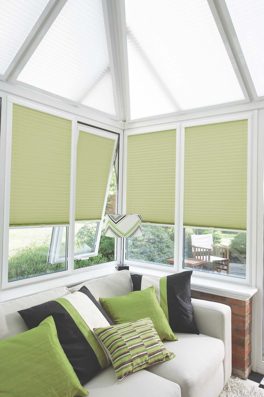 Perfect Fit Blinds - Basix Pale Green Perfect Fit Pleated