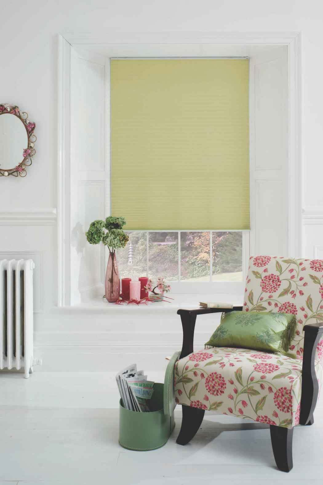Pleated Blinds - Basix Pale Green
