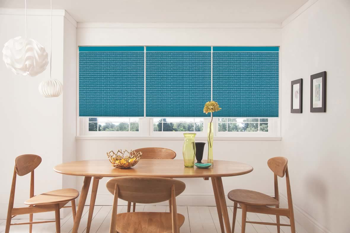 Pleated Blinds - Hula Teal
