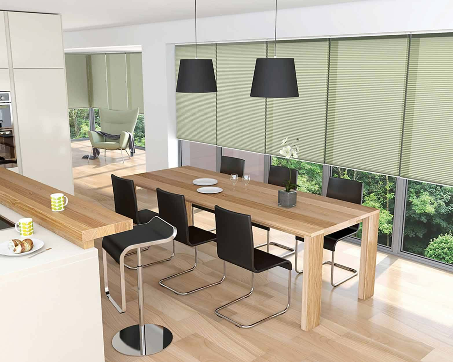 Pleated Blinds - Sola Green