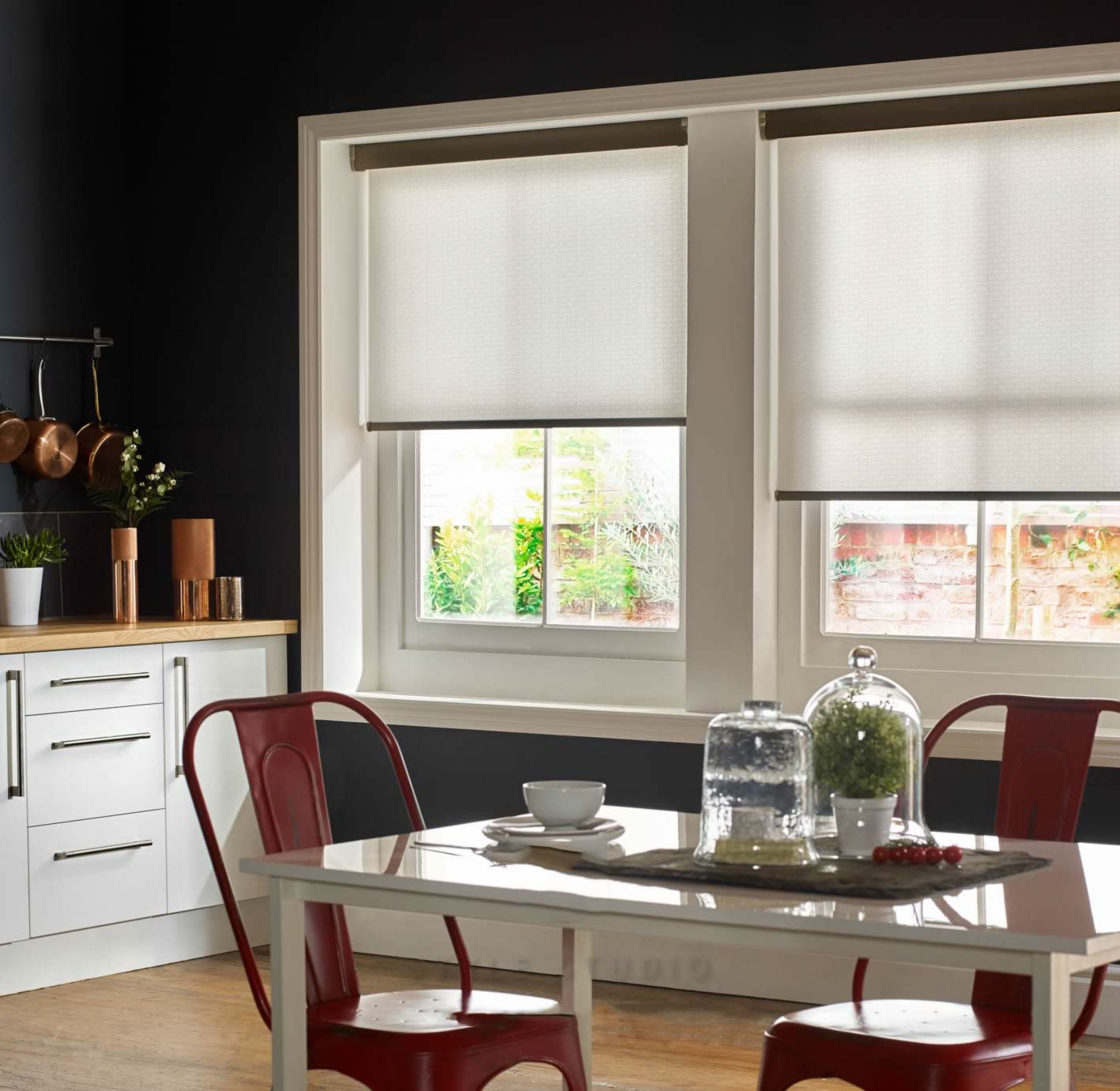 Senses Roller Blinds - Flow Snowdrop
