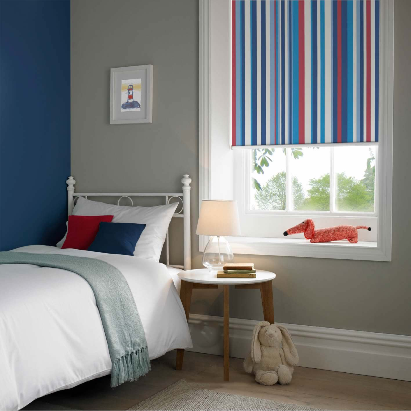 Senses Roller Blinds - Funky Stripe Blackout