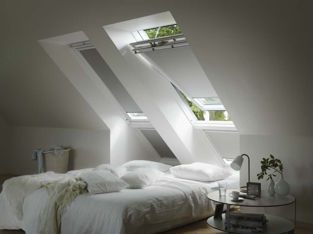 Velux Window Blinds - Blackout White Skylight