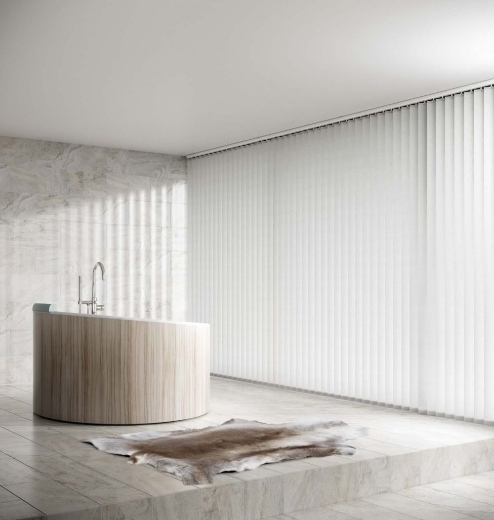 Vertical Blinds - Alessi Snow