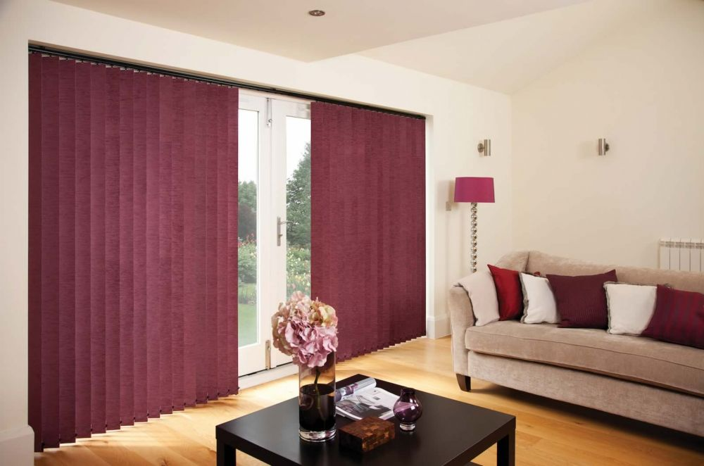 Vertical Blinds - Chenille Mulberry