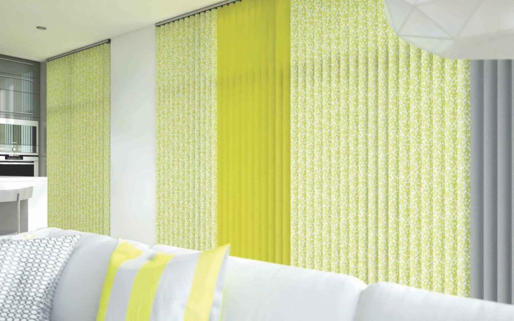 Vertical Blinds | confetti-chartreuse-cameo