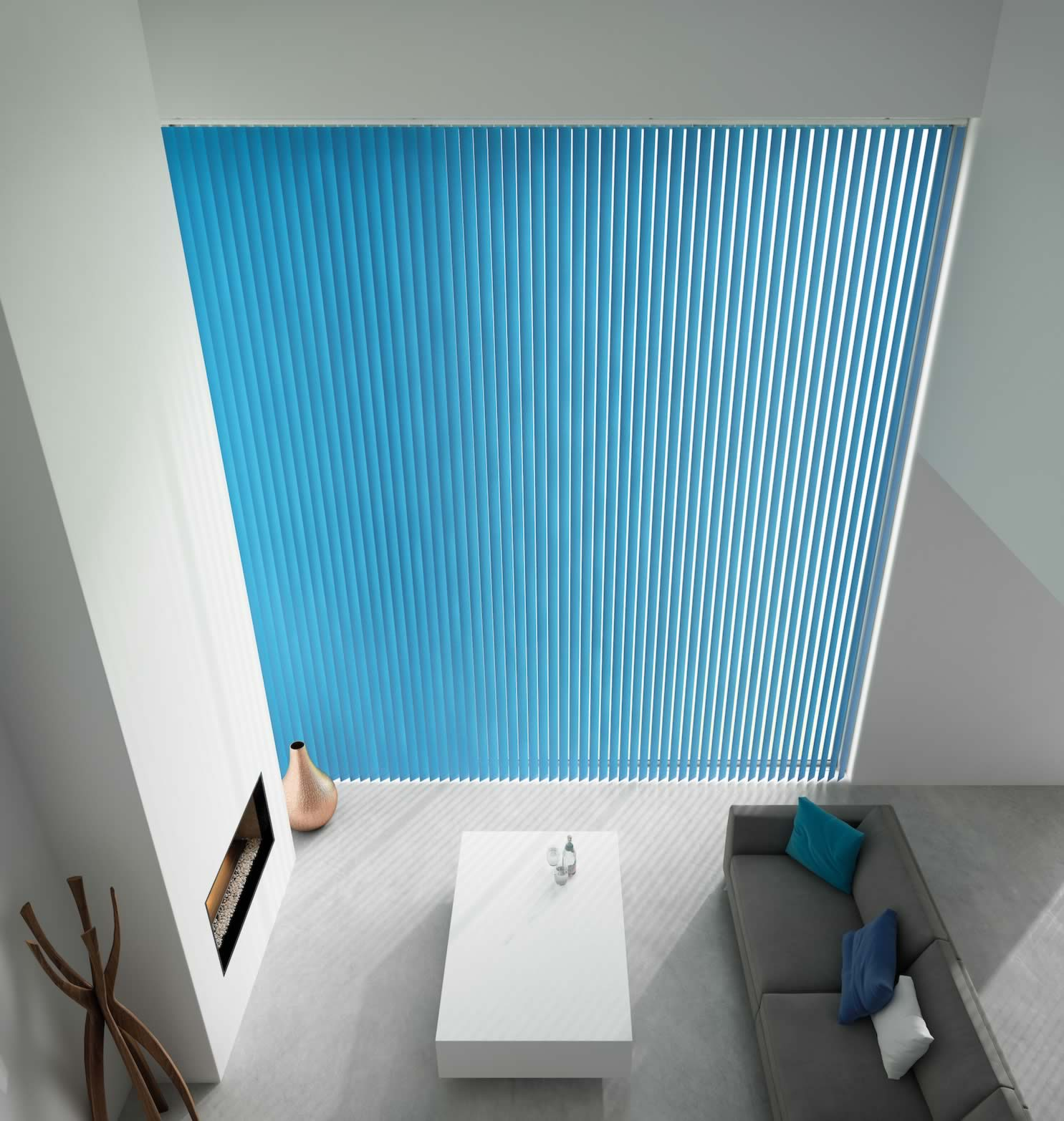 Vertical Blinds - Unicolour Cyan