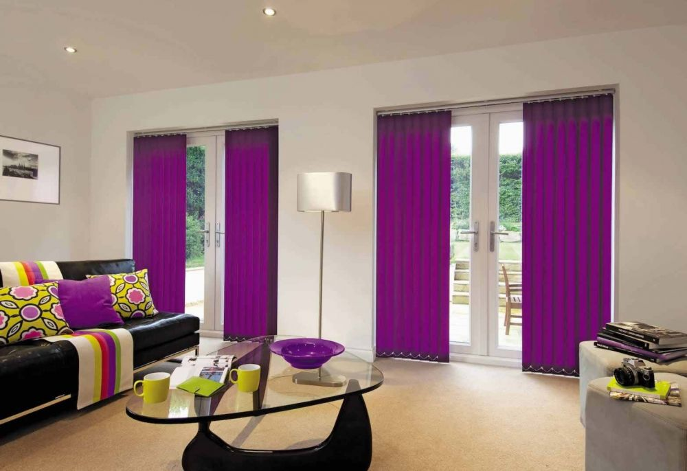 Vertical Blinds - Carnival Purple