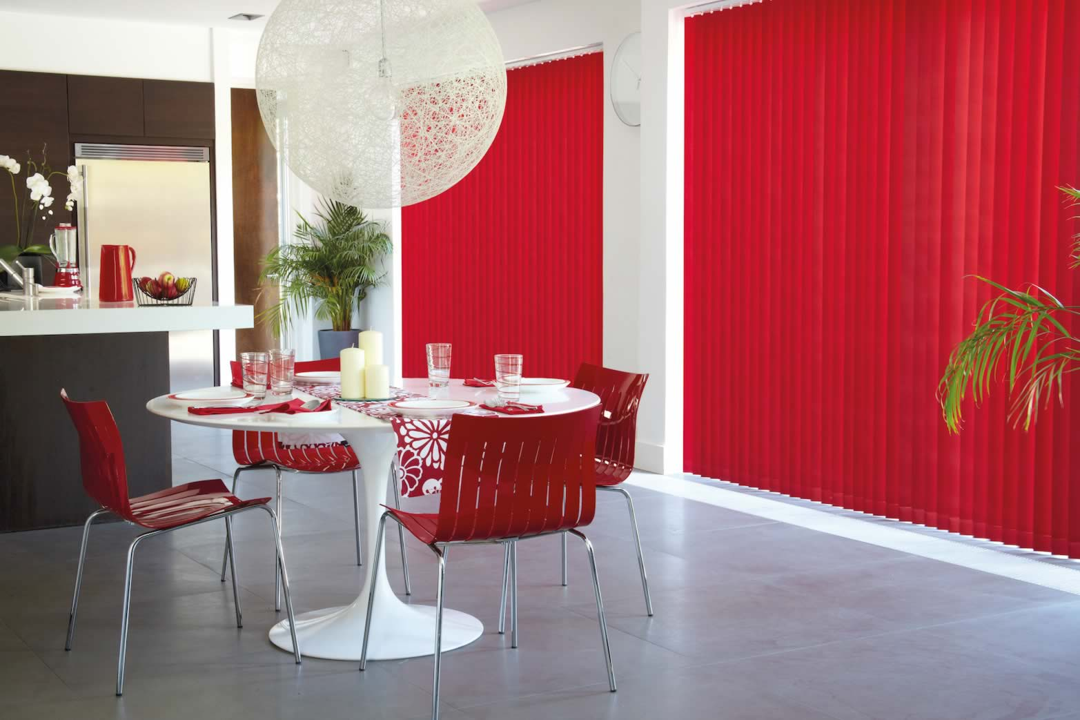 Vertical Blinds - Vitra Flame
